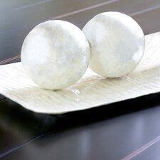 Capiz Ball Sculpture (Set of 2)