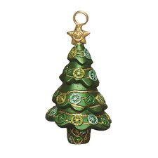 Christmas Glam Cone Tree Place Card/Photo Holder (Set of 2)