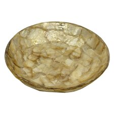 Gold Flake Round Soap Dish