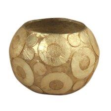 2 Piece Capiz Shell & Glass Globe Votive Set (Set of 2)