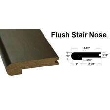 "0.88"" x 3.5"" x 78.75"" Oak Stair Nose in Brown"