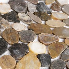 Random Sized Natural Stone Pebble Tile in Sienna