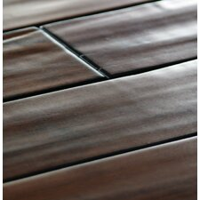 "5.24"" Engineered Bamboo Hardwood Flooring Walnut"