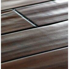 """5.24"""" Walnut Hand-scraped 12mm Engineered Strand Bamboo Flooring"""