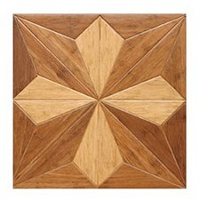 "Victorian Parquet Engineered 15.75"" x 15.75"" Bamboo Wood Tile"