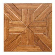 "Tuscan Parquet Engineered 15.75"" x 15.75"" Bamboo Wood Tile"