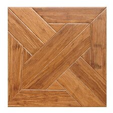 "Gothic Parquet Engineered 15.75"" x 15.75"" Bamboo Wood Tile"