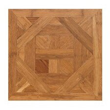 "Bordeaux Parquet Engineered 15.75"" x 15.75"" Bamboo Wood Tile"