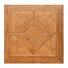 "Georgian Parquet Engineered 15.75"" x 15.75"" Bamboo Wood Tile"