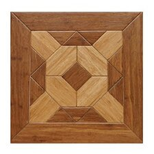 "Windsor Parquet Engineered 15.75"" x 15.75"" Bamboo Wood Tile"