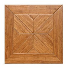 "Estate Parquet Engineered 15.75"" x 15.75"" Bamboo Wood Tile"