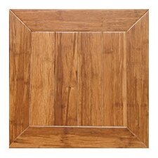 "Monticello Parquet Engineered 15.75"" x 15.75"" Bamboo Wood Tile"