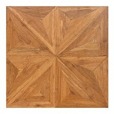 "Renaissance Parquet Engineered 15.75"" x 15.75"" Bamboo Wood Tile"