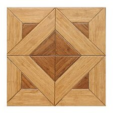 "Versailles Parquet Engineered 15.75"" x 15.75"" Bamboo Wood Tile"