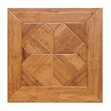 "Venetian Parquet Engineered 15.75"" x 15.75"" Bamboo Wood Tile"