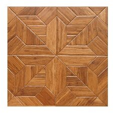 "Salon Parquet Engineered 15.75"" x 15.75"" Bamboo Wood Tile"