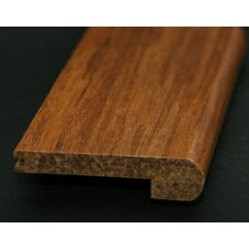 """0.56"""" x 3.62"""" Handscraped Flush Stair Nose in Carbonized"""