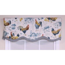 "Rooster Strut Provance 50"" Curtain Valance"