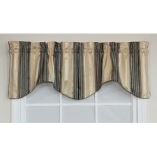 "Shelby Stripe Bravo 50"" Curtain Valance"