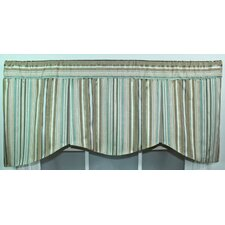 """Ribbon Stripe 50"""" Curtain Valance"""
