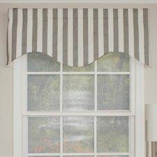 "Awning Stripe Cornice 50"" Curtain Valance"