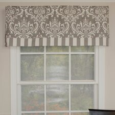 "Royal Damask Banded 50"" Curtain Valance"