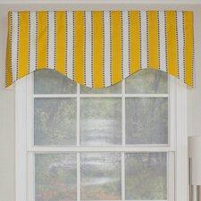 "Dorothy Stripe Cornice 50"" Curtain Valance"