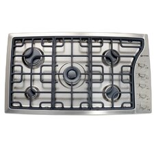 """36"""" Gas Cooktop with 5 Burners and Side Control"""