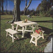 24'' Cedar Wood Picnic Bench (Set of 2)