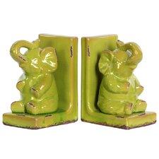 Stoneware Elephant Bookend Assortment Turquoise (Set of 2)