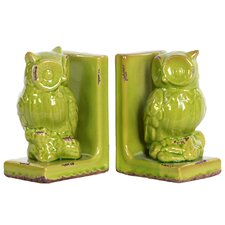 Stoneware Owl Bookend Assortment Turquoise (Set of 2)