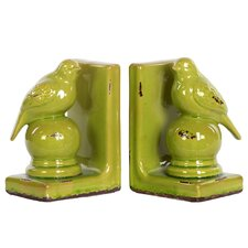 Stoneware Bird Bookend Assortment Turquoise (Set of 2)