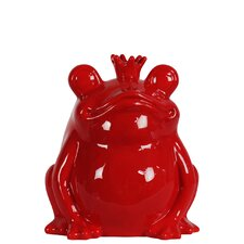 Ceramic Frog With A Crown Figurine