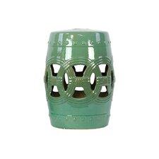 Ceramic Garden Stool Lime Green