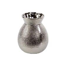 Ceramic Vase Chrome Silver