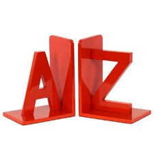 Wood AZ Book End (Set of 2)