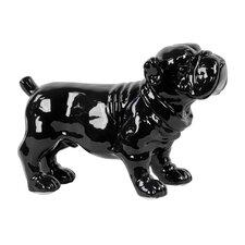 Ceramic Standing Bulldog Gloss Black
