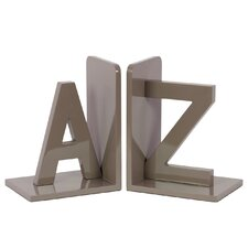 Wood AZ Bookend (Set of 2)