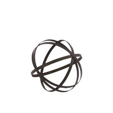 Metal Orb Dyson Sphere Design Decor Grey (Set of 5)