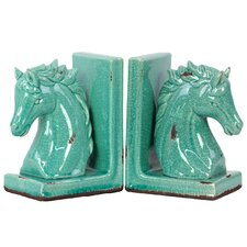 Stoneware Horse Bookend (Set of 2)