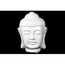 Ceramic Buddha Head Gloss White