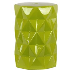 Ceramic Diamond Garden Stool