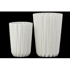 2 Piece Tapered Flower Vase Set