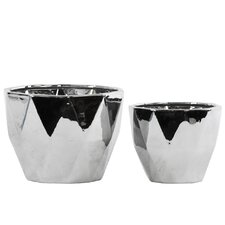 2 Piece Round Pot Planter Set
