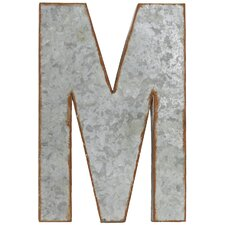 "Alphabet Letter ""M"" Wall Decor"