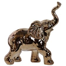 Walking Trumpeting Elephant Figurine