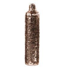 Engraved Criss Cross Design Bottle Vase