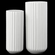 2 Piece Tall Cylindrical Flower Vase Set