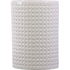 Ceramic Oval Vase LG Dimpled Gloss White