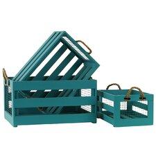 3 Piece Wooden Storage Box Set